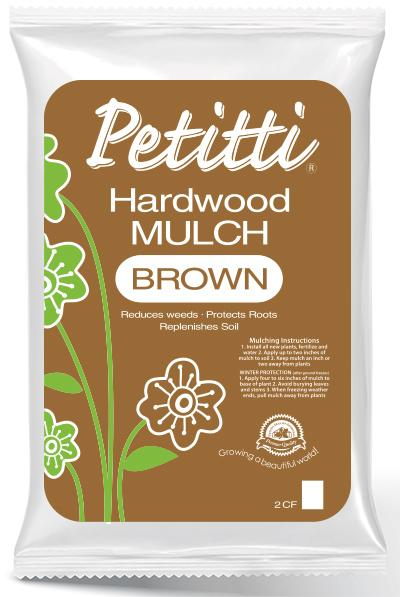 Petitti Hardwood mulch brown 2cf